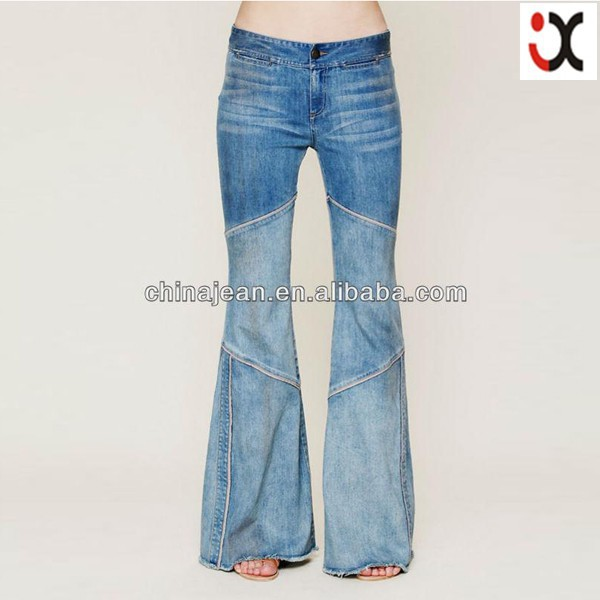 Fashion Designer Plus Size Bell Bottom Jeans Jxl20160 - Buy Plus ...