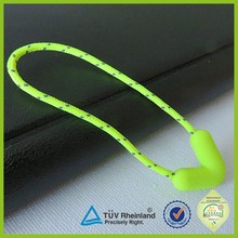 Clothes accessory OEM pvc pull zipper plastic rope slider puller