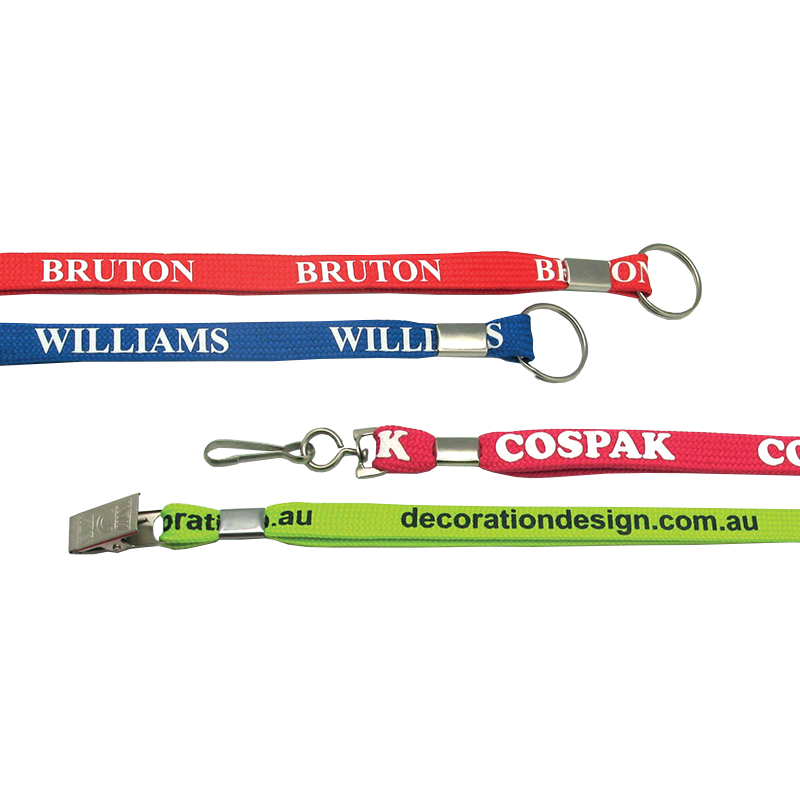 Plastic buckle lanyard personality lanyard with metal adjustment