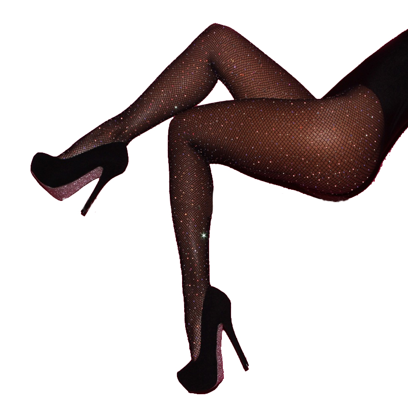 f36bae87c08df Hot selling Women's Fashion Crystal Rhinestone Pantyhose Fishnet Tights  Stocking