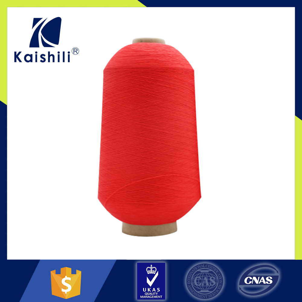 Custom manufacturers fabric stock 100 polyester twisted yarn