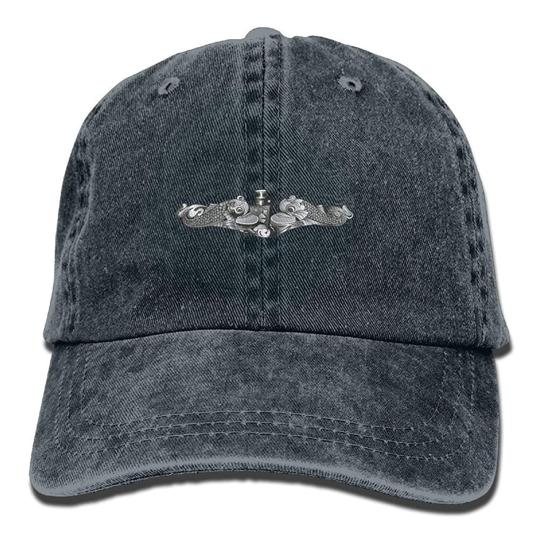 2024d16a358d5f Get Quotations · jauefvbncla US Navy Submarine Insignia Cotton Denim Hat  Washed Retro Gym Hat Cap Hat