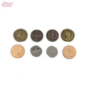 Cheap Custom Gold Sliver Copper Metal Game Token Coins For Arcade Game Machine