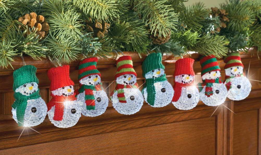60 lighted winter snowman strand indoor holiday decor christmas tree lights string decoration