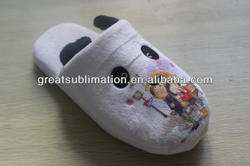 sublimation white hotel slipper