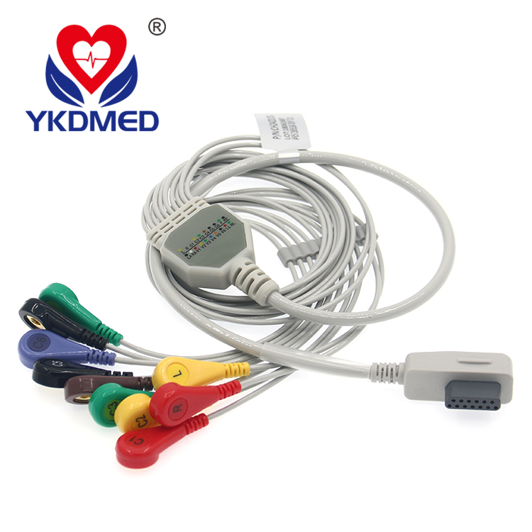 compatible  HANGZHOU BAIHUI CT-086S holter ekg cable and leadwires