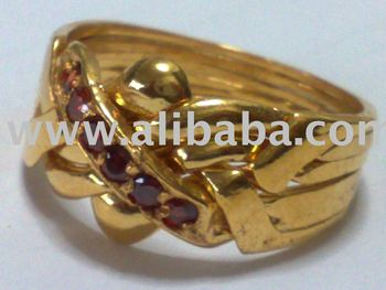 14k Gold 5 Band Amethyst Puzzle Ring 7 8 Grams Size 9 Rings Product On Alibaba