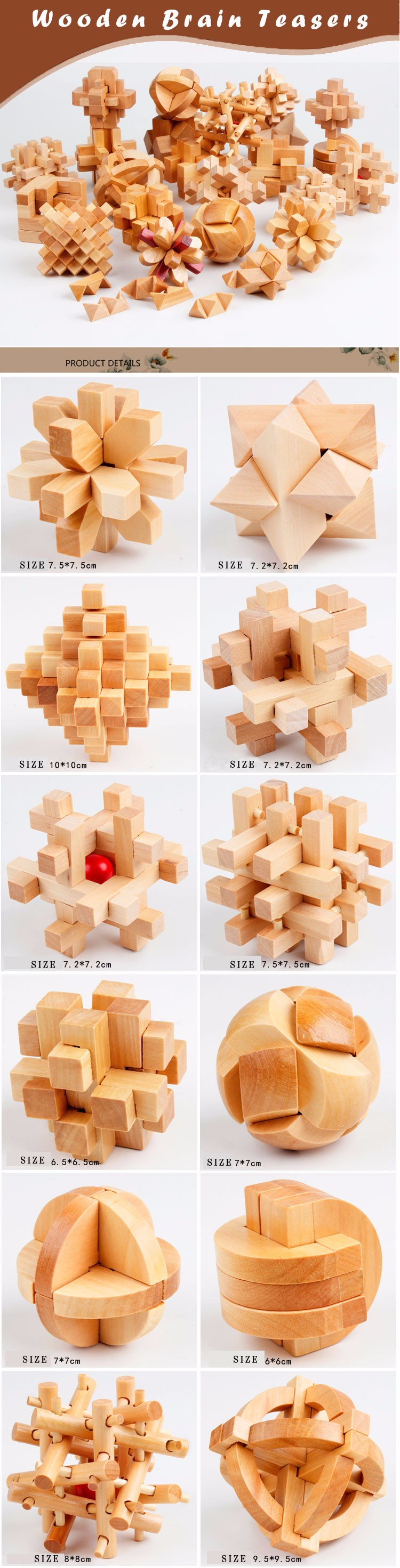 High Quality Wooden Toy Chinese Classic Kids Toys Educational Lock Puzzle  Creativity Developing Blocks Set With Box - Buy Wooden Toys,Kids Toys,Brain