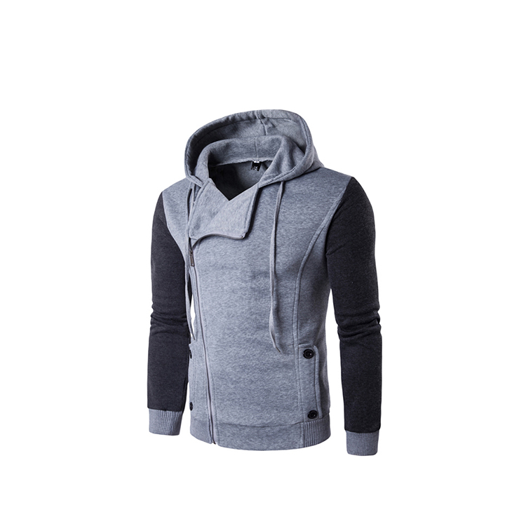Mnaufactory price elegant round collar hoodies with zippers men