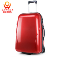 2018 fashional airport travel trolley wheel hard shell luggage suitcase