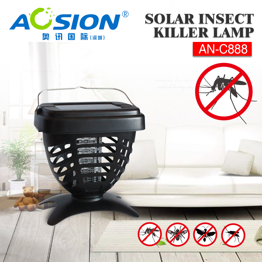 Aosion Solar Panel Fly Electric Killer with Rechargable Battery AN-C888