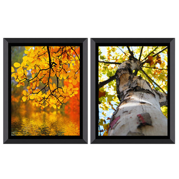 Beautiful Yellow Leaves Scenery 3D Painting On Canvas Art