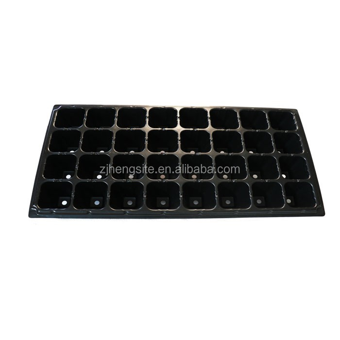 32 cells Plastic Round Rice Seed Sprouting Tray / Rice Seedling Tray