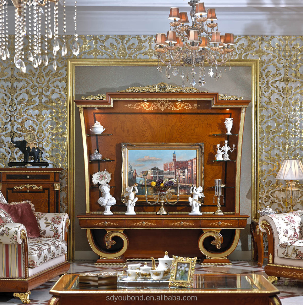 0038 Luxury Antique Tv Lcd Wooden Cabinet Designs For ...