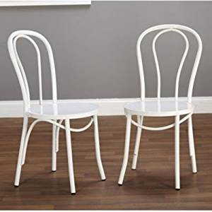 Get Quotations · Target Marketing Systems Vintage Inspired Metal Kitchen  Dining Chair With Round Back, Set Of 2