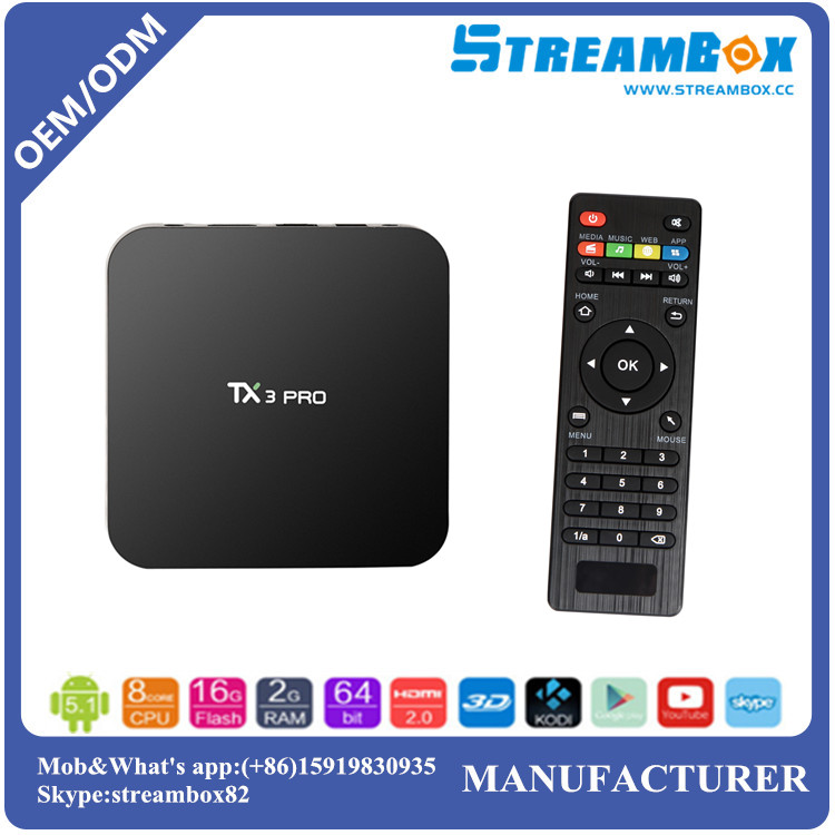 Free shipping TX3 S905x Pro <strong>2G</strong>+16GB IPTV WiFi Digital Media Smart <strong>Android</strong> OTT <strong>TV</strong> <strong>Box</strong>