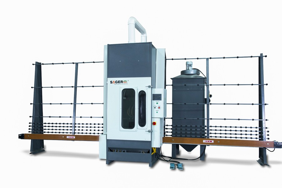 New condition sandblasting machinery for vertical glass