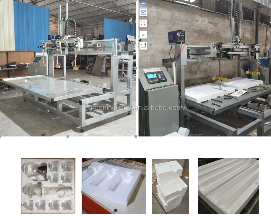 Automatic EPS EPE Hot wire CNC Foam router