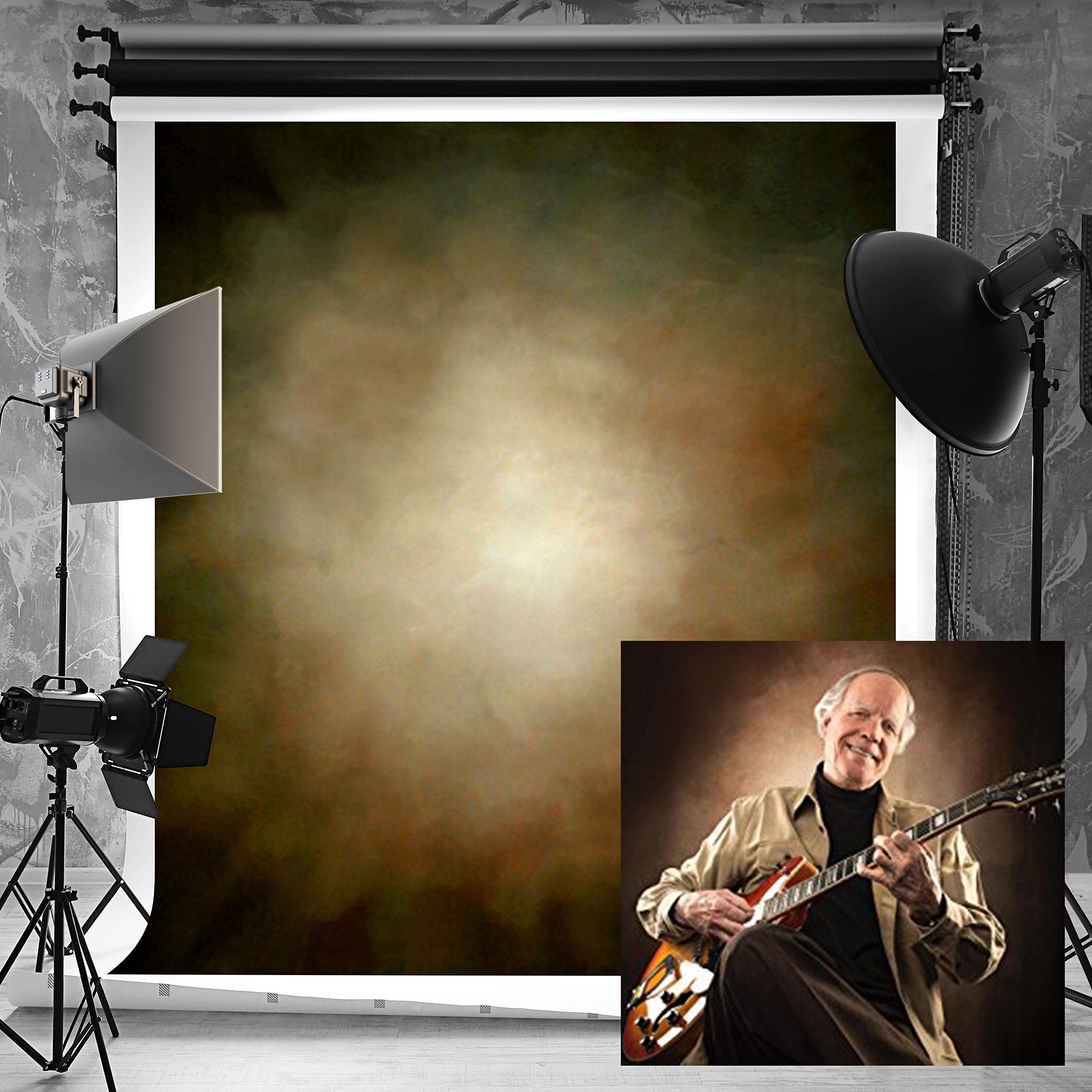 Kate 5ft(W) x7ft(H) Abstract Photography Backdrops Microfiber Brown Portrait Photography Studio Background