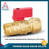 cw617n brass ball valve for gas mini PTFE CE approved full port with forged motorize plating cock valve lockable in delhi PN 40