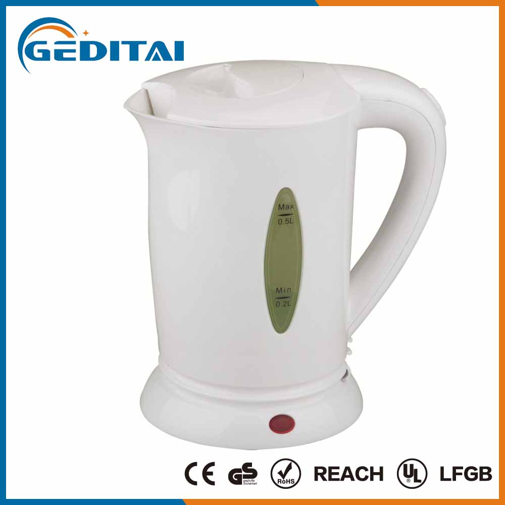 Multifunctional professional 500ml mini plastic electric travel kettle