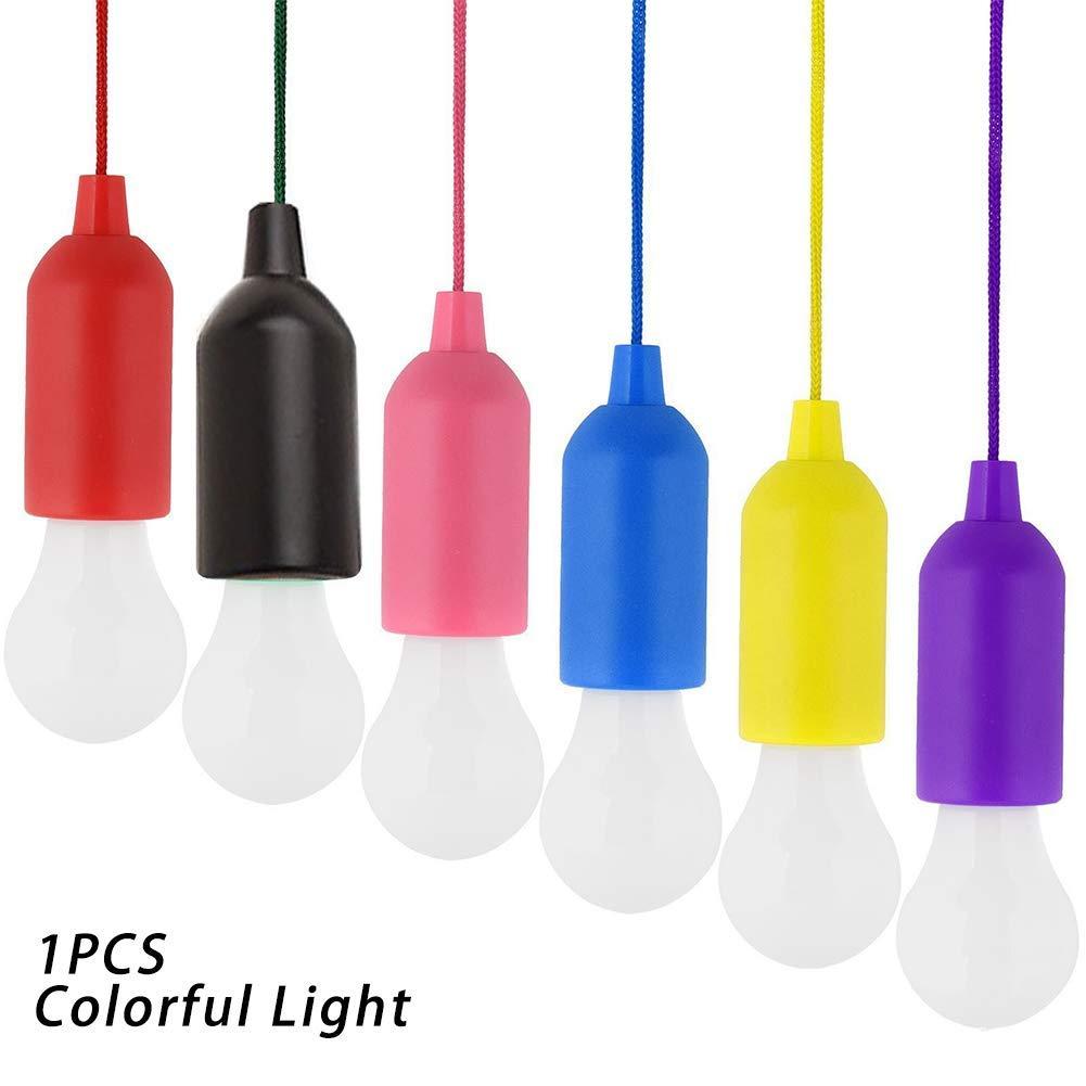 Light Bulbs 1pcs Pull Bulb Portable Led Pull Cord Light Bulb Outdoor Garden Party Hanging Led Light Lamp Black