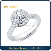 Best Wedding Bridal Diamond Ring Jewelry au 750 Solid Gold Ring Designer Solitaire Engagement Rings