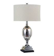 Wholesale modern fabric lamp shade wrought iron banker table lamps