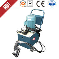 Electric hydraulic portable air duct pressure angle flange rivet machine