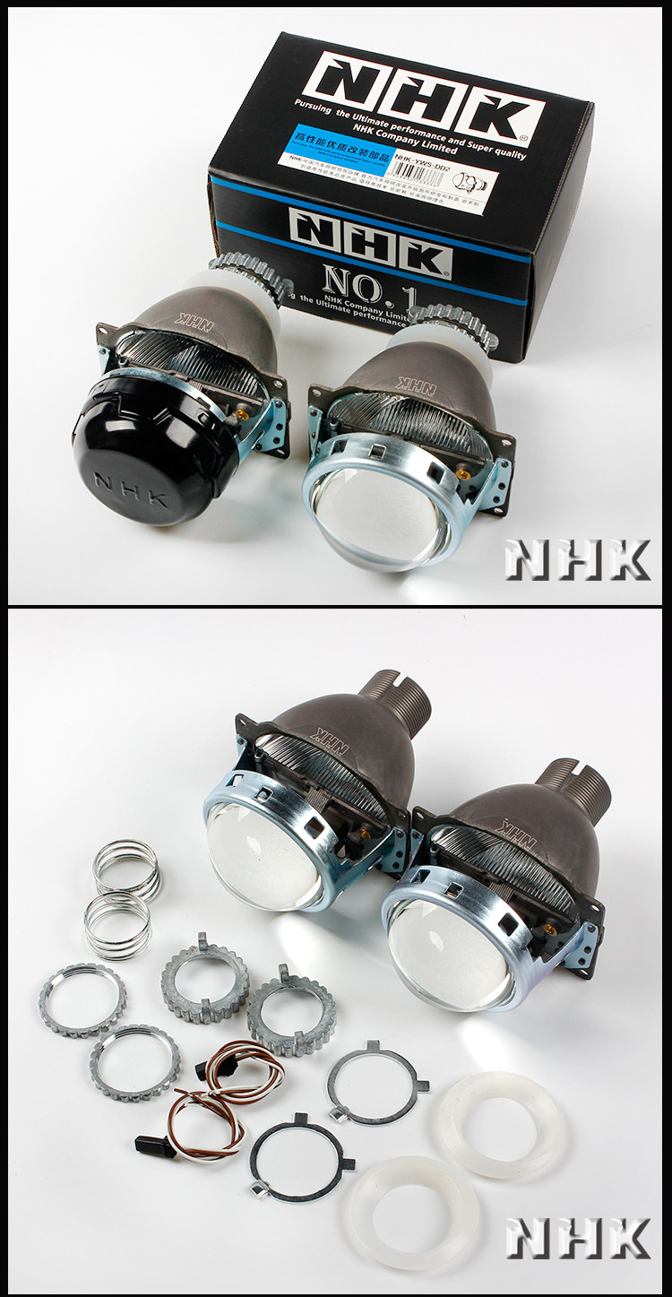 NHK mini D2S Bi-xenon projector H4 Q5 auto lights upgrade 3inch lens DOT LHD/RHD