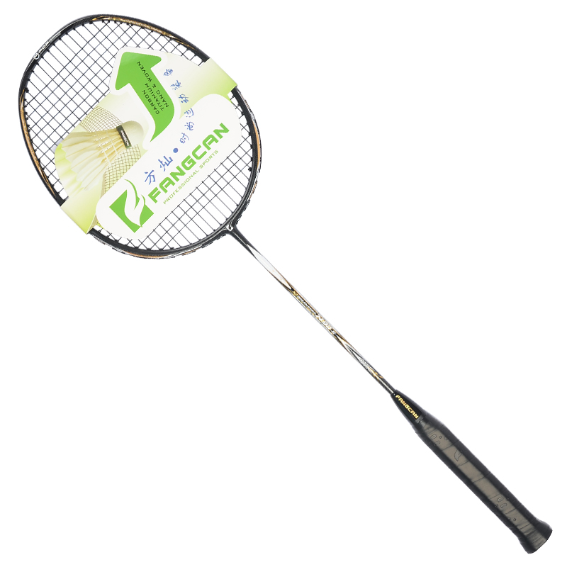 Fangcan hoge-end N90-3 ultralight geweven top kwaliteit carbon badminton racket met string