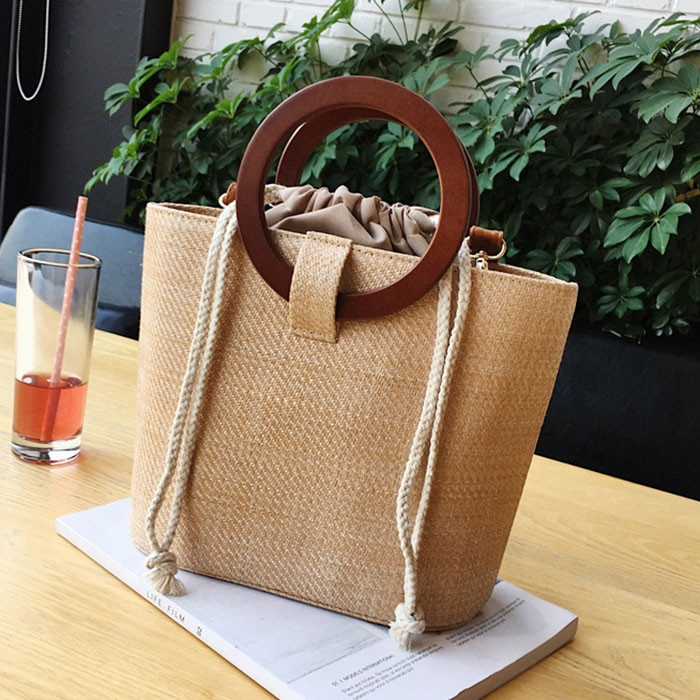 Wholesale Women's Fashion Straw Handbag Beach Tote Bag for ladies