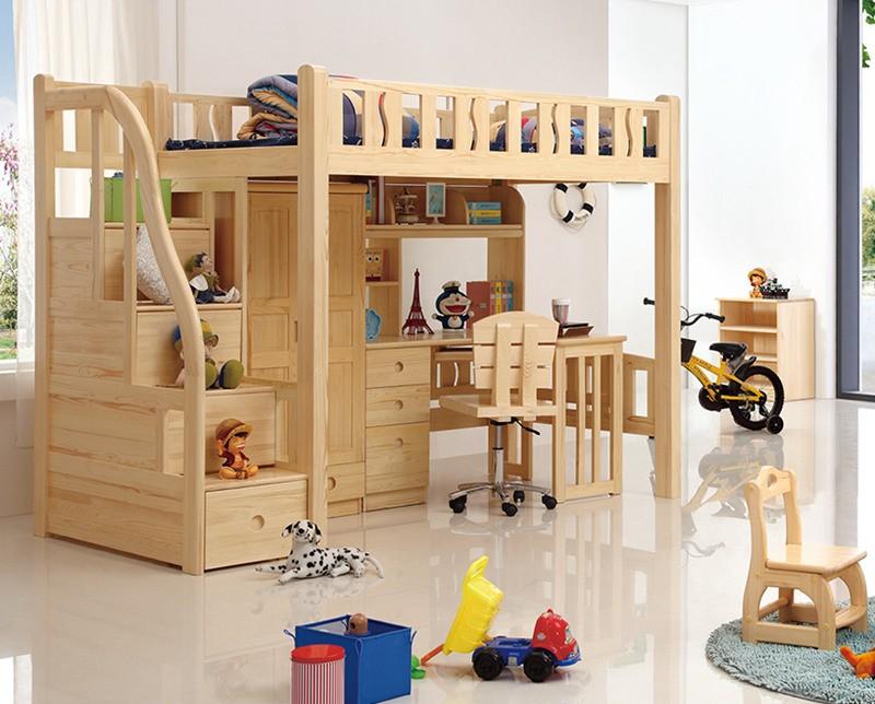 Hot style design moderne chambre meubles bois en pin massif ...