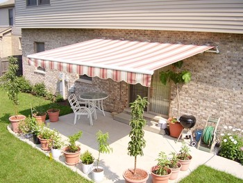 Steel Frame Electric Retractable Awnings For Home Balcony Cover