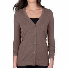 15PKCAS112016 lady's 100% cashmere winter warm V-neck cardigan sweater