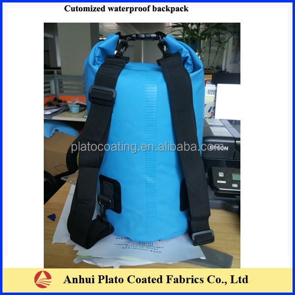 waterproof tarpaulin backpack made in pvc laminated tarpaulin fabrics