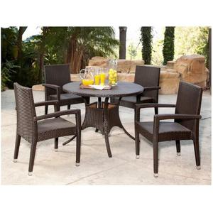 cheap outdoor PE rattan furniture philippine dining table set