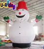 christmas inflatable snow man In the Garden for advertising