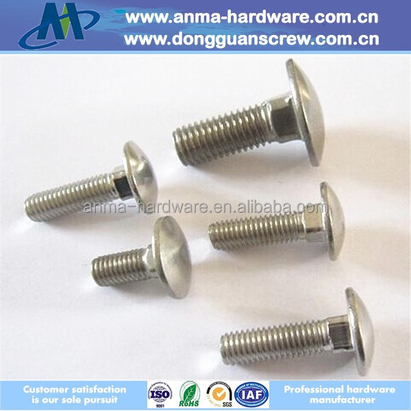 Iron rods DIN603 carriage bolt with white zinc finish