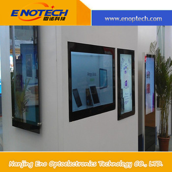 Advertising Equipment 42'' Transparent Lcd Display Showcase For ...