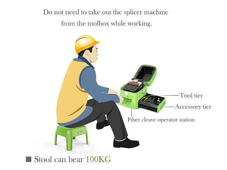 China Splicer OFC Splicing Mesin AI-8C Sinyal Api Optical Fiber Fusion Splicer