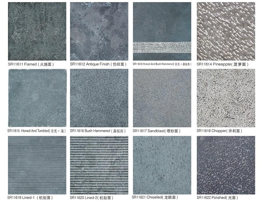 פופולרי כחול אבן גיר רצפת אריחים בלוסטון צרפתית דפוס עבור גן ריצוף