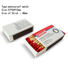 Portable outdoor survival kits camping waterproof matches safety wooden matches