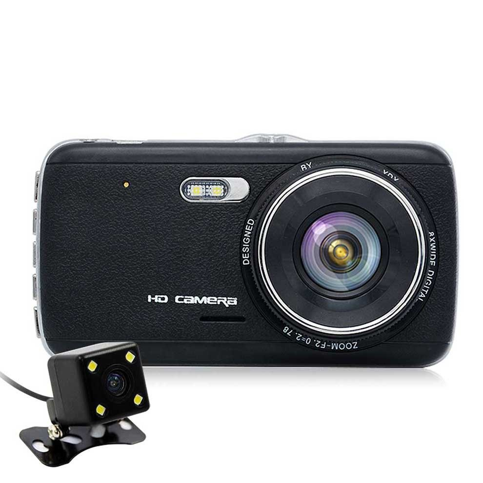 OEM Ultra HD 1296P Dual Camera Car Dash Cam With 4inch Display FCWS LDWS and FHD 1080P Rearview Camera
