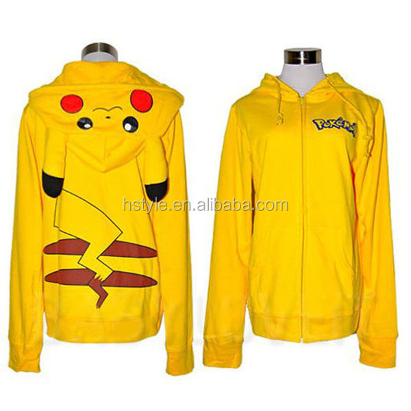 Pokemon Pikachu Hoodie Zip Top Hoodies Sweatshirt Jacket HFH011