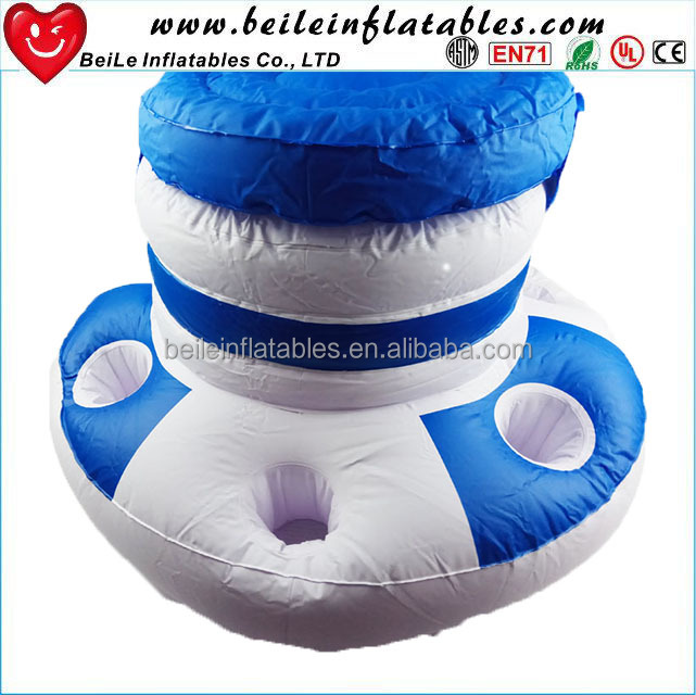 Blue white stripe storage container inflatable lake floats