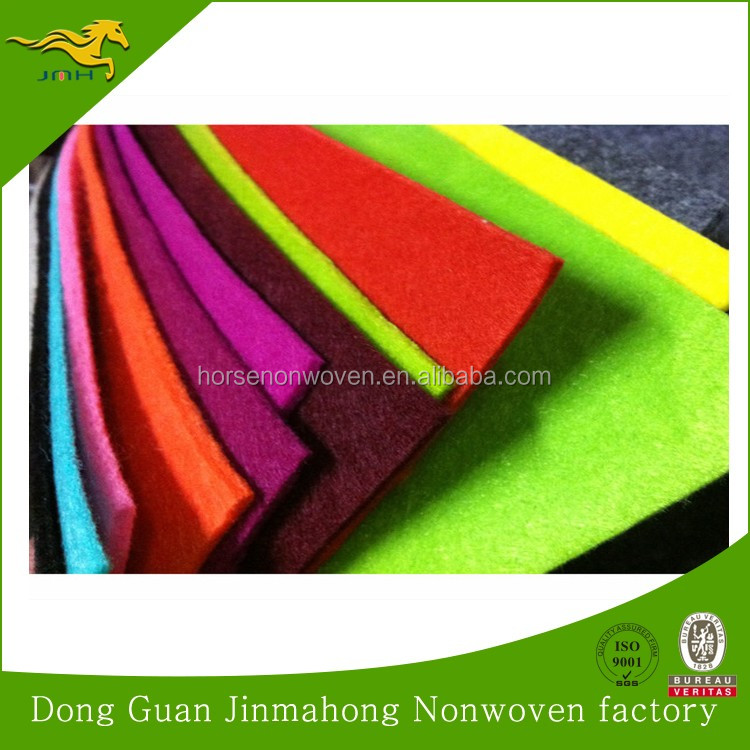 Colorful Needle Felt Velour Carpet Non Woven Exhibition