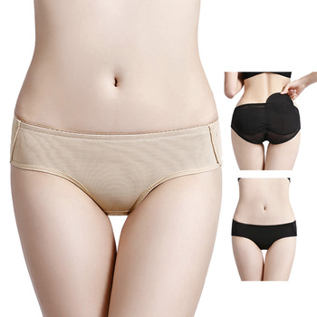 552978e9fdf Custom black mesh ladies butt lifter shaper silicone buttocks padded panties