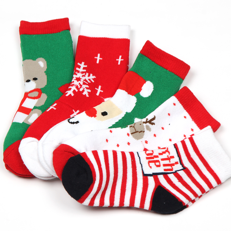 Hi-q Baby Warm Christmas Socks Thick Combed Cotton Terry Socks Baby ...