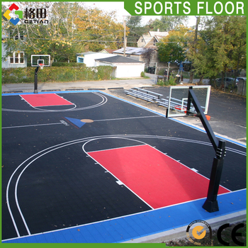 Widely Use Outdoor Full Court Basketball Backyard Flooring Cost Sports Tiles